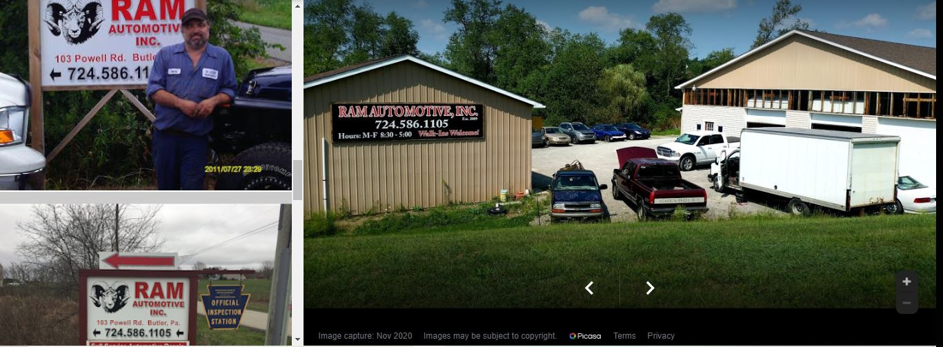 RAM Automotive, Inc. 103 Powell Rd. Butler, PA 16002 Ph: 724-586-1105 Fax: 724-586-2189 ram.sept07@yahoo.com